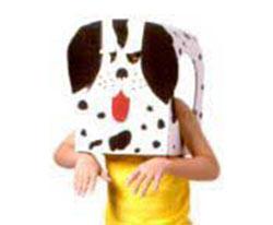 máscara de papelão para o carnaval