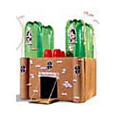 castelo reciclado de brinquedo