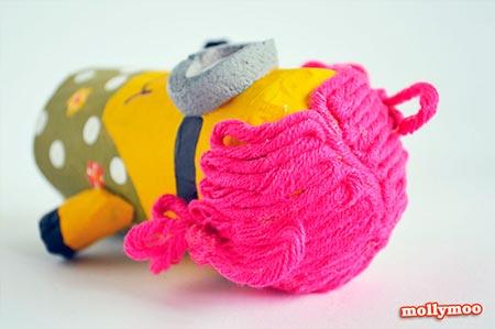 Criando Um Minion Com Rolo De Papel Higiênico Arte Reciclada
