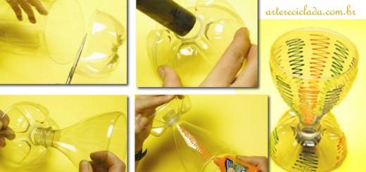 Como fazer uma taça ou copo com garrafas PET