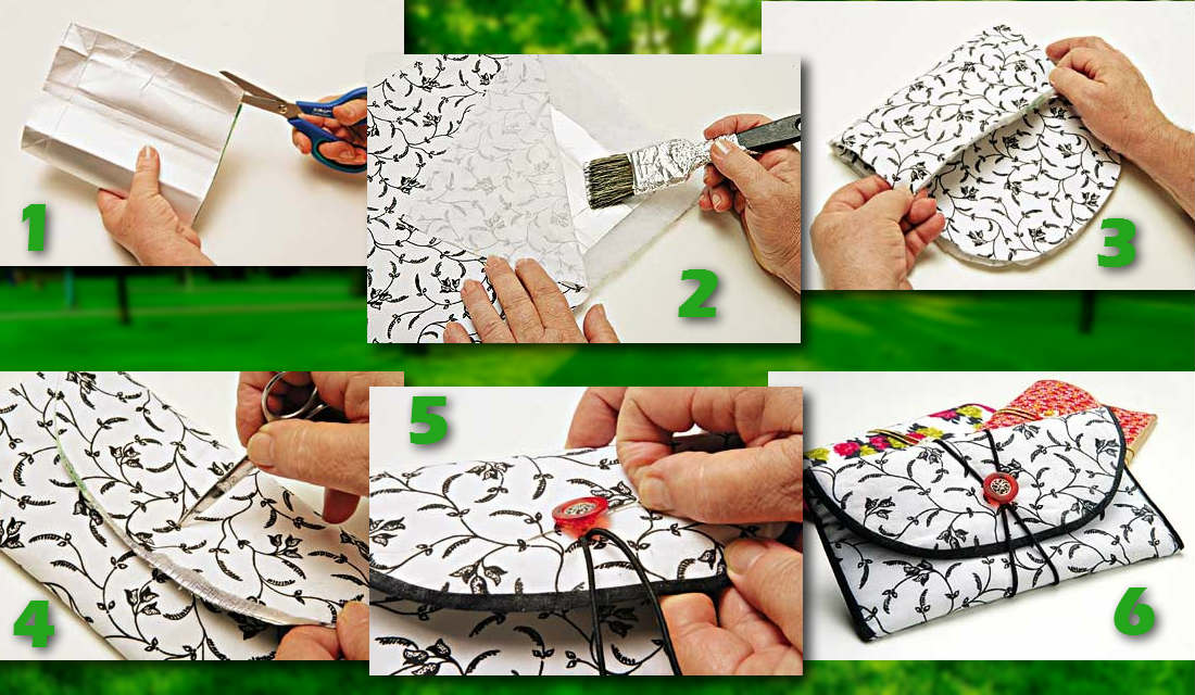 5e58892f4 Aprenda a fazer carteiras usando embalagens longa vida