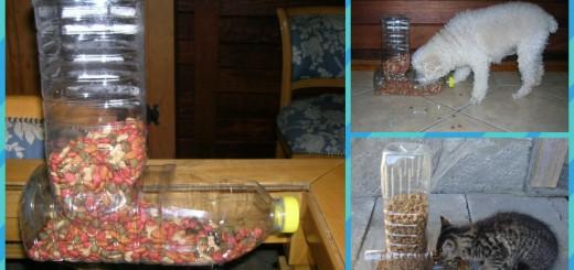 comedouro-reciclado para cães e gatos