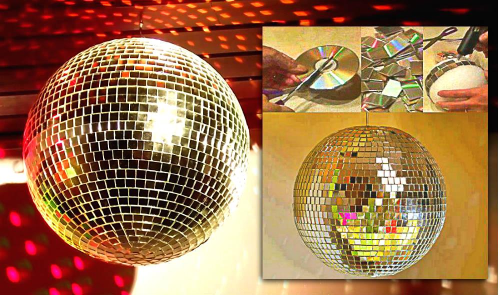 Armario Planejado Quarto Casal ~ Como fazer um globo com CDs recortados Arte Reciclada