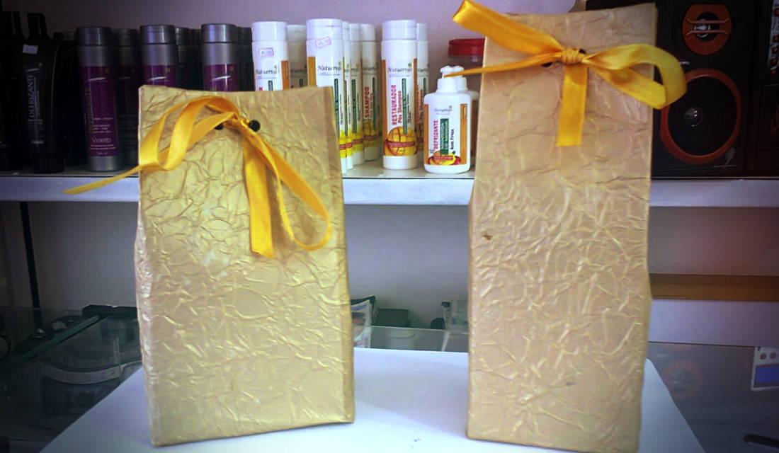Caixas De Presente Com Recicláveis Arte Reciclada