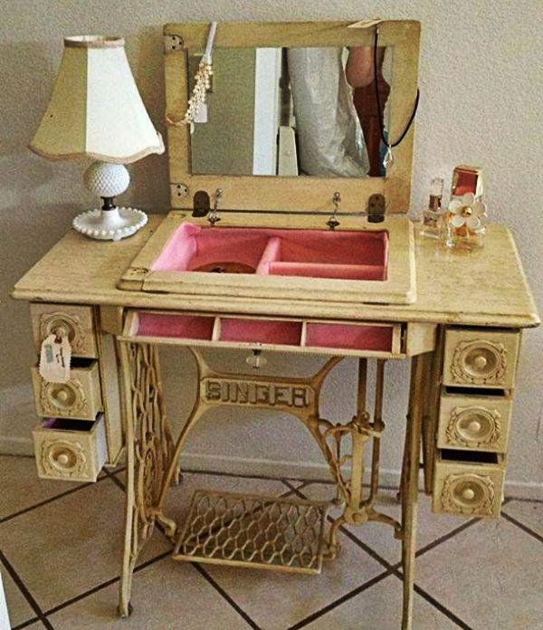 decoração com máquinas de costura