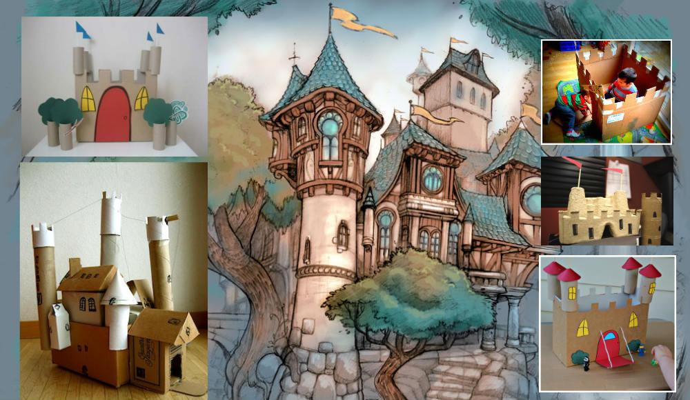 Castelo De Brinquedo Com Recicláveis Arte Reciclada