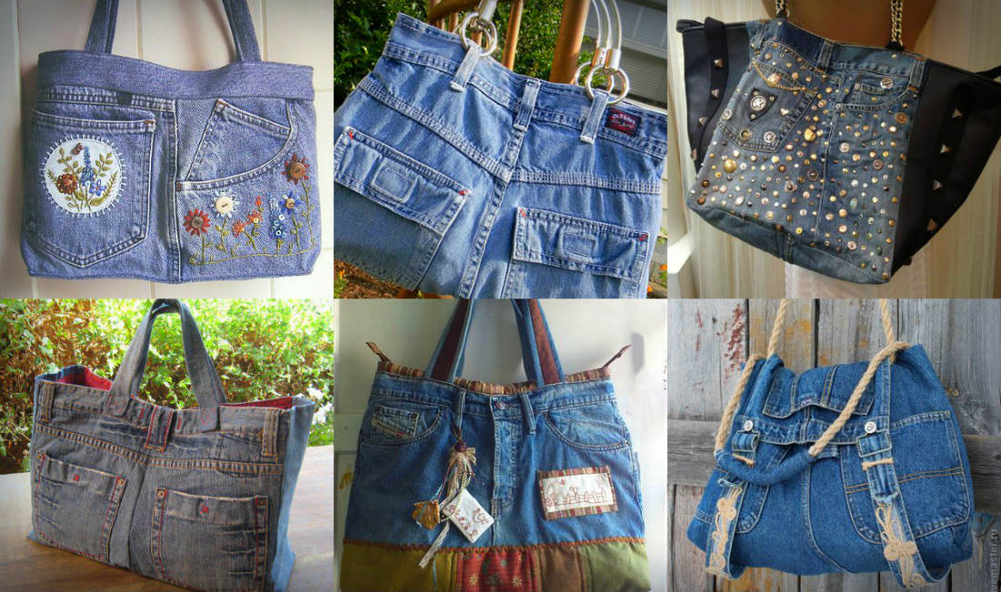 Bolsa De Tecido Jeans Passo A Passo : Jeans usado vira bolsa arte reciclada