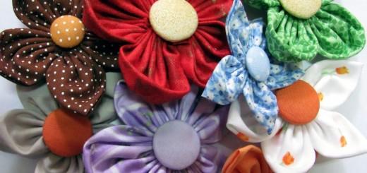 flores reciclada sobra de tecido