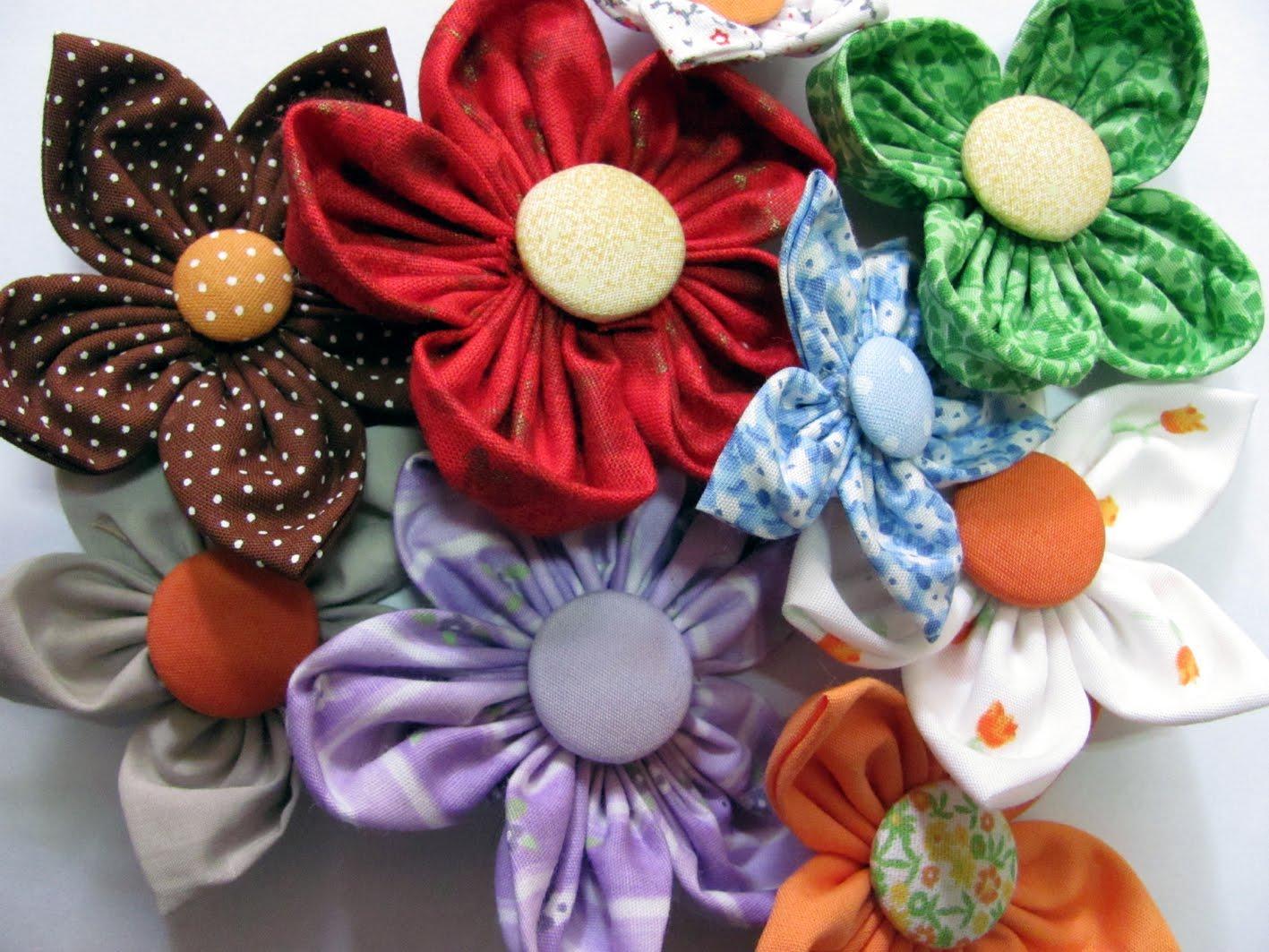 Faça Flores Com Sobras De Tecido Arte Reciclada