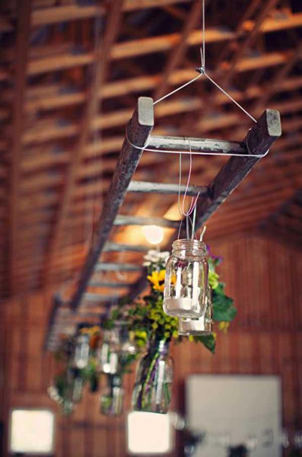 Ecco 32 idee strepitose per riciclare delle vecchie scale for Puoi ottenere un prestito per costruire una casa