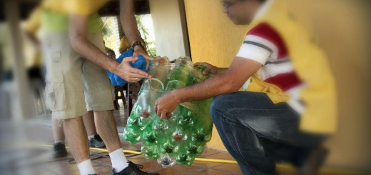 Puff de PET reciclado