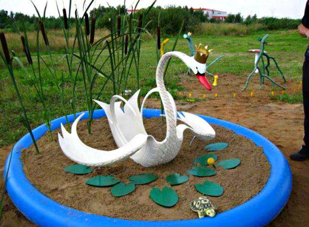 artesanato-com-pneus-cisne-reciclagem