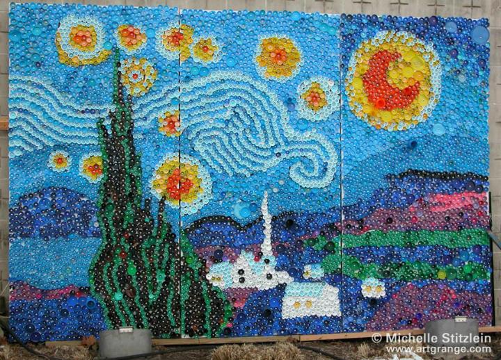 artesanato-tampa-plastico-mural