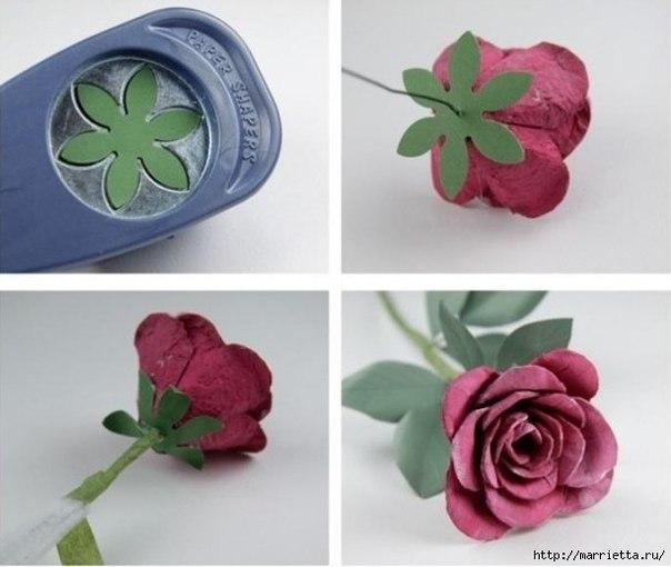 aprenda a fazer flores com caixa de ovo