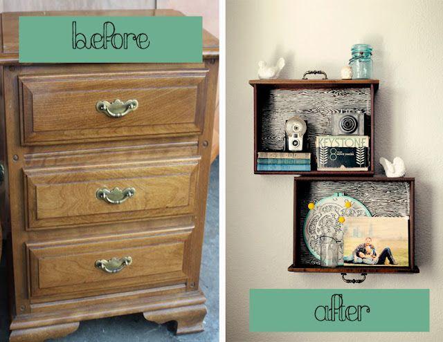 reciclagem de gavetas antigas
